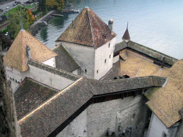 Замок Шийон, вид сверху
